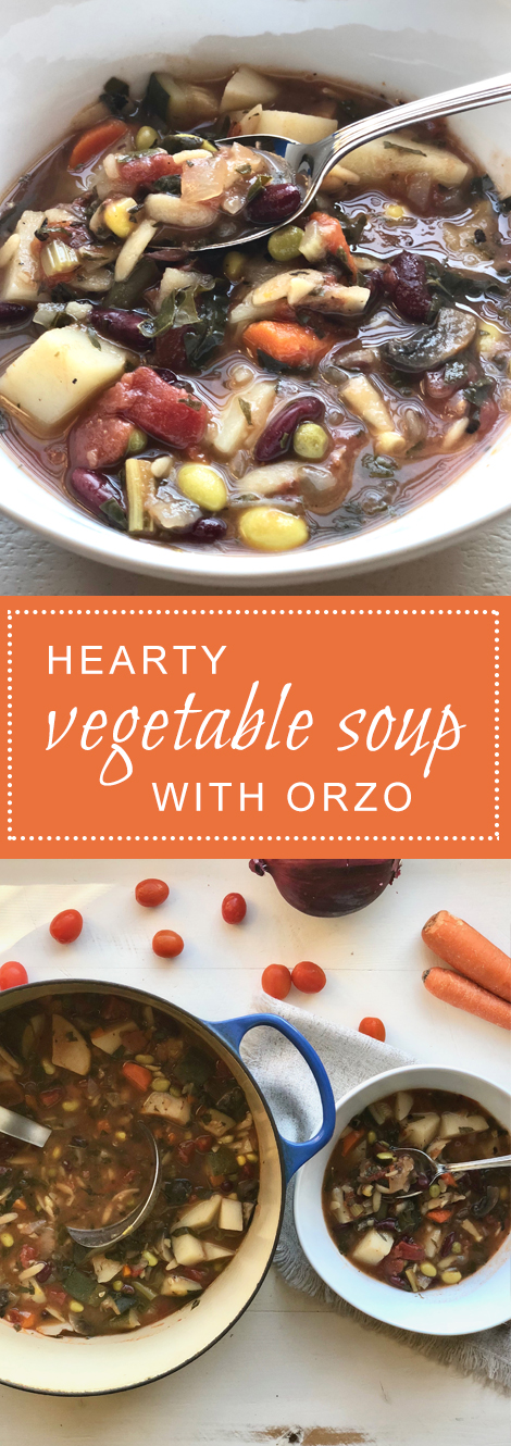 Hearty Vegetable Soup with Orzo
