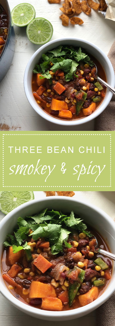 Smokey Spicy Three Bean Chili